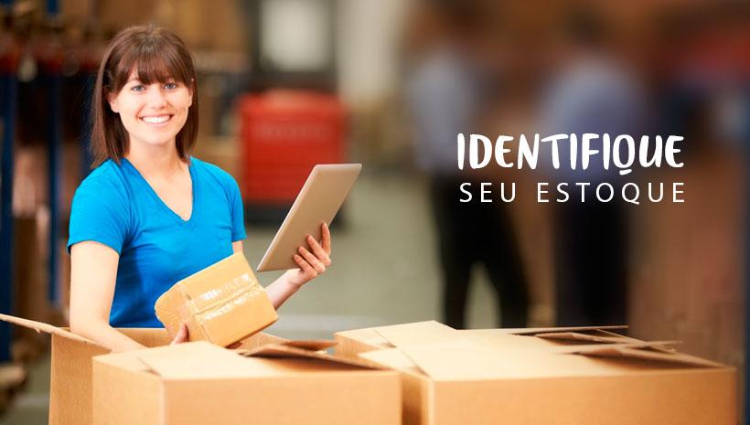 gestão e controle de estoque - identificação