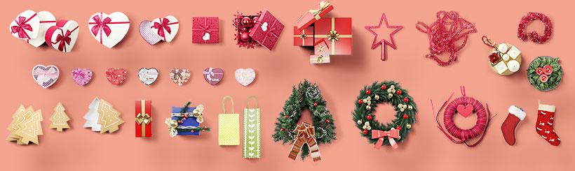 acessórios para decorar sua vitrine de natal
