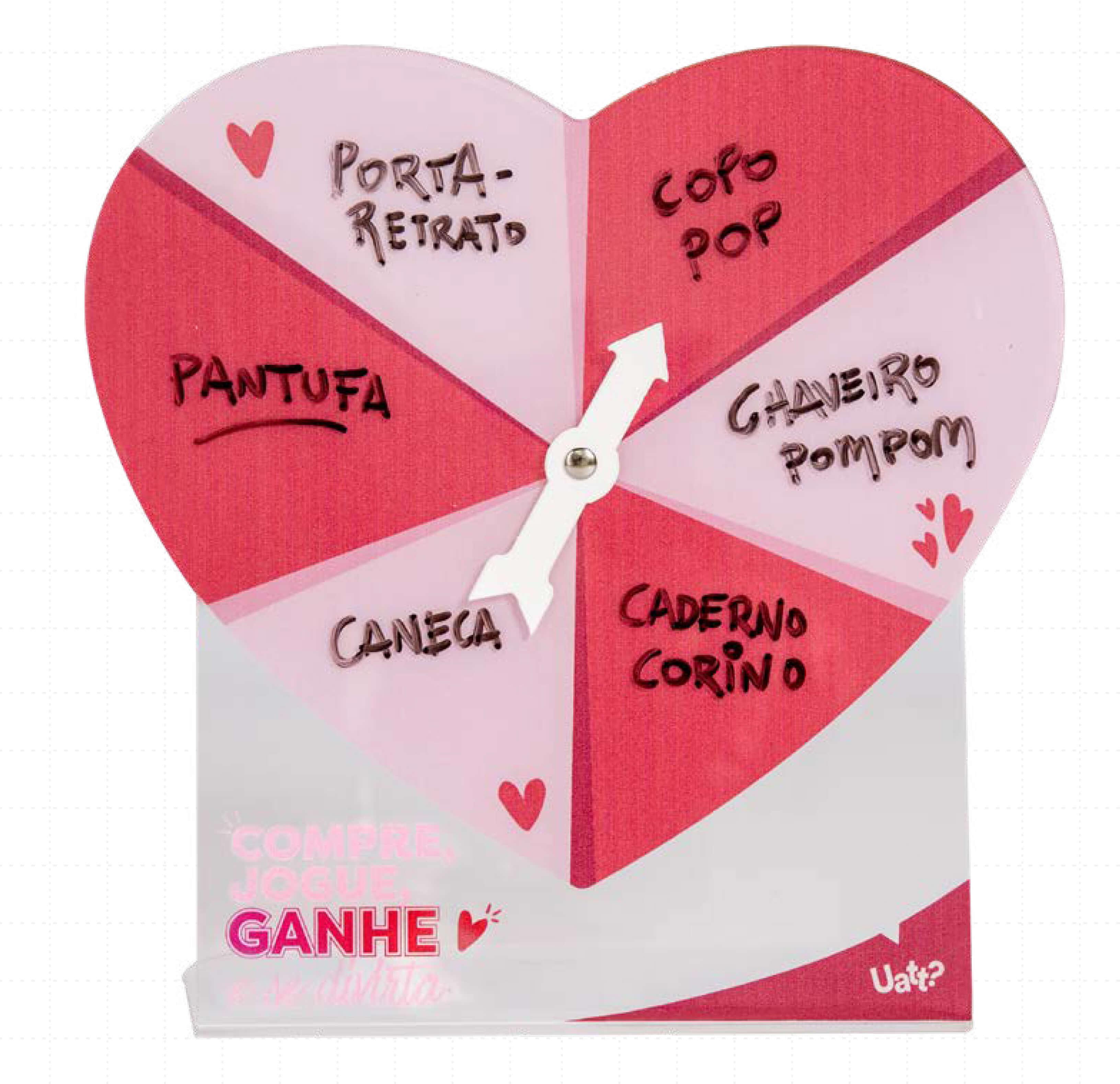Roleta da sorte - Ações de Vendas para o Dia dos Namorados