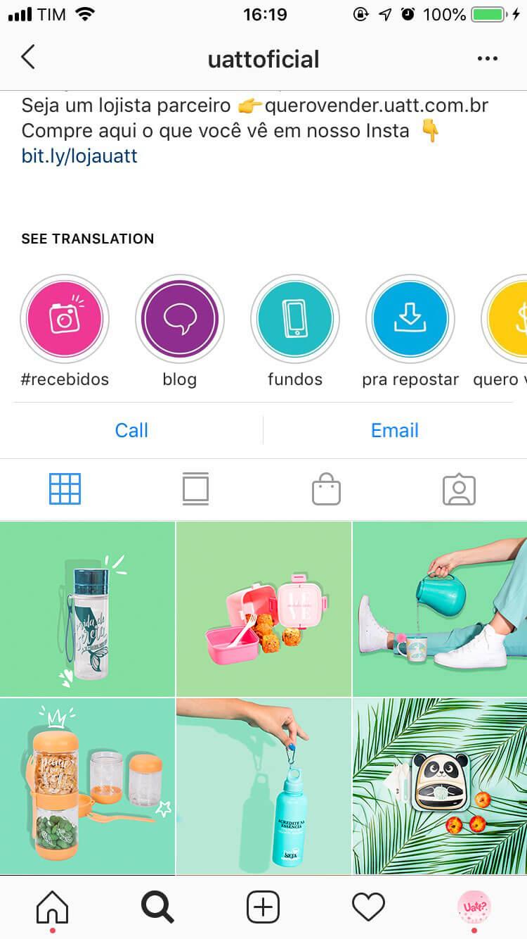 Grid do instagram faz parte da gestão de redes sociais