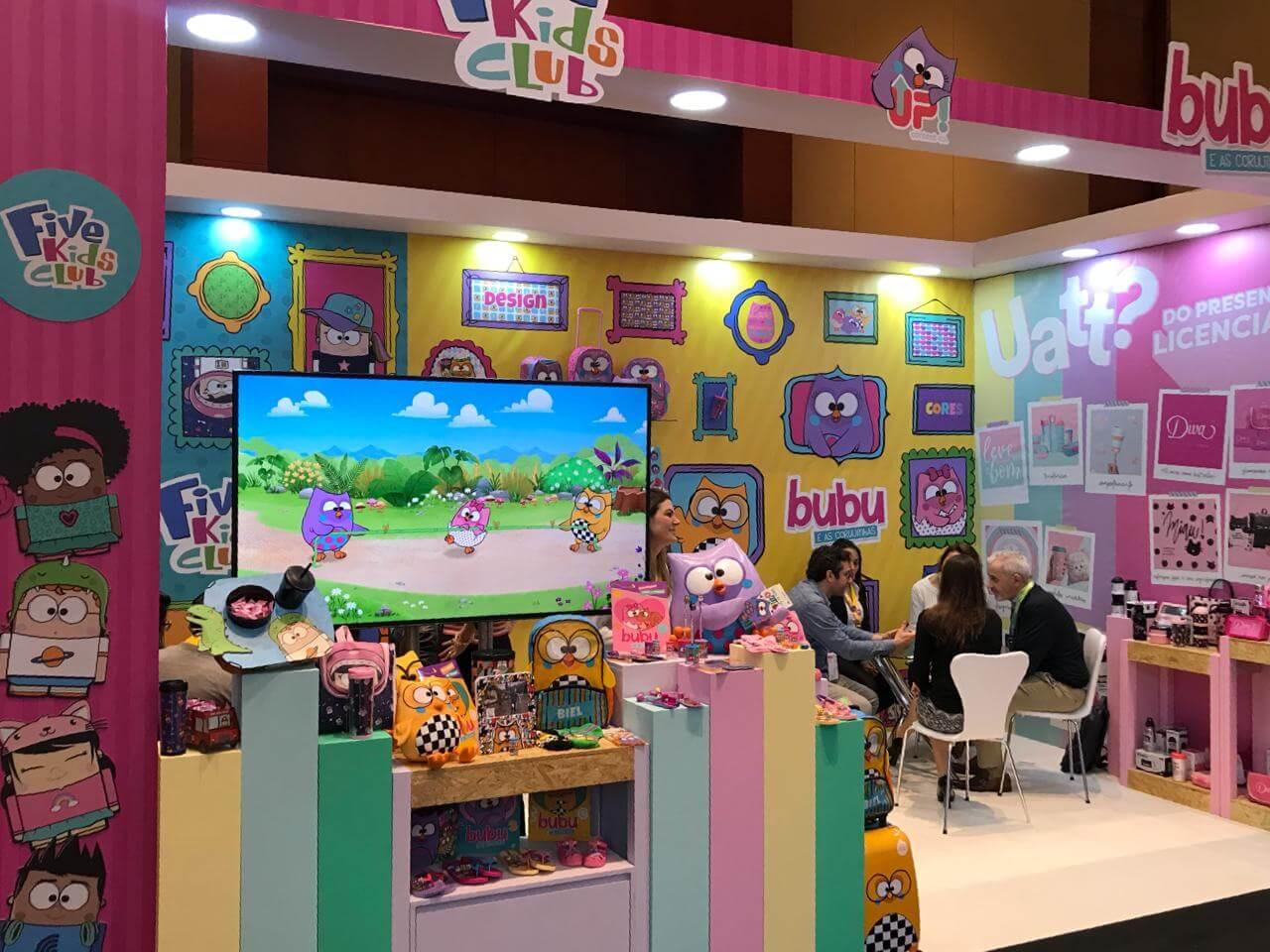 Bubu e as Corujinhas na Expo Licensing LatAm